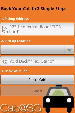 Cab@SG - screenshot