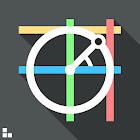 Círculo unitario trigonométric icon