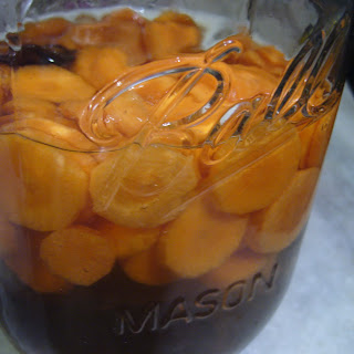 Maple-Bourbon Carrot Pickles.
