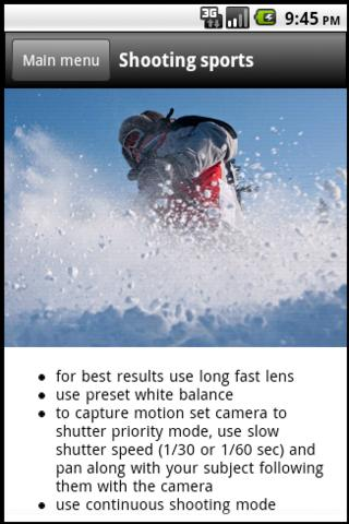 DSLR Camera - Photo Guide Screenshot