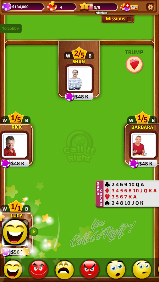 Call it Right - Free Card Game- screenshot