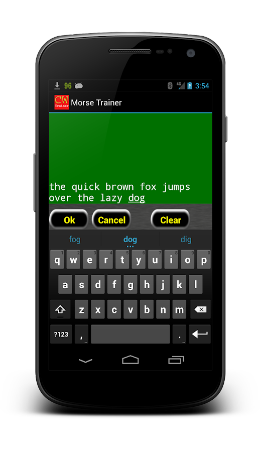 Morse Trainer for Ham Radio- screenshot