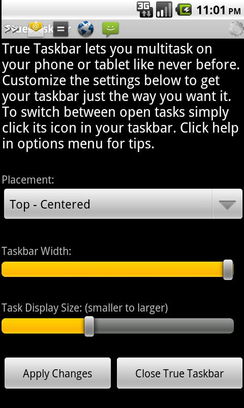 True Taskbar - screenshot