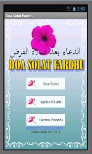 Doa Selepas Solat Fardhu- screenshot thumbnail