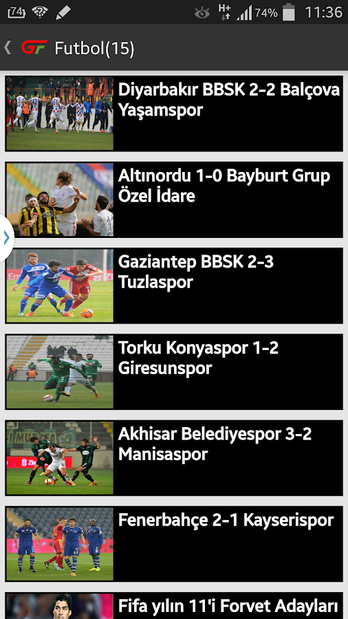 Güncel Futbol- screenshot