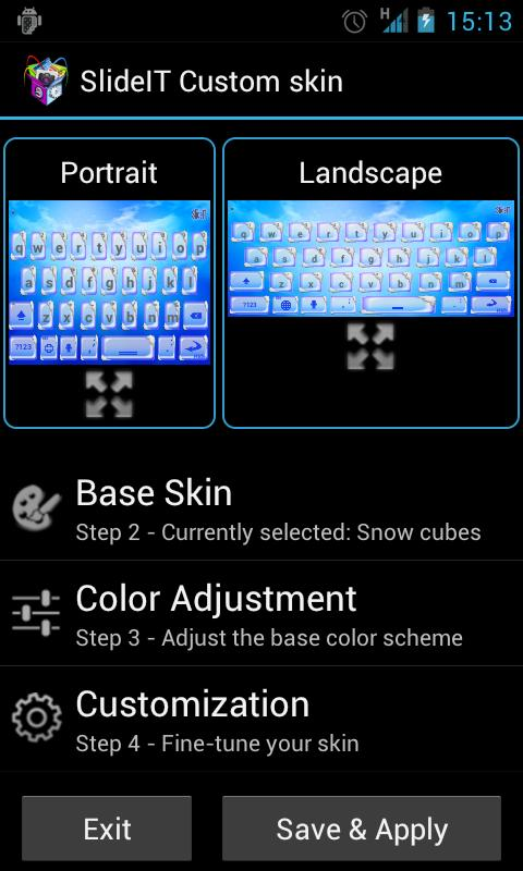 SlideIT Skin Customizer- screenshot