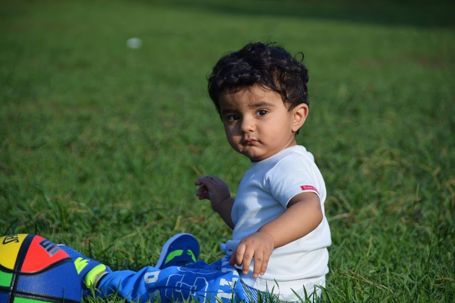 Baby in the park by Nikhat Jahan - Babies & Children Child Portraits