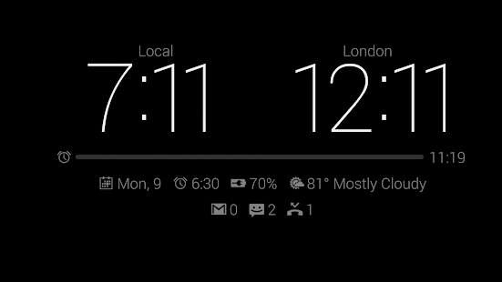 Dock Clock Plus (Night/Desk) - screenshot thumbnail
