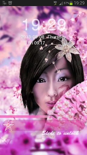 日本女孩GO鎖屏主題