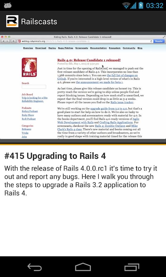 Railscasts - screenshot