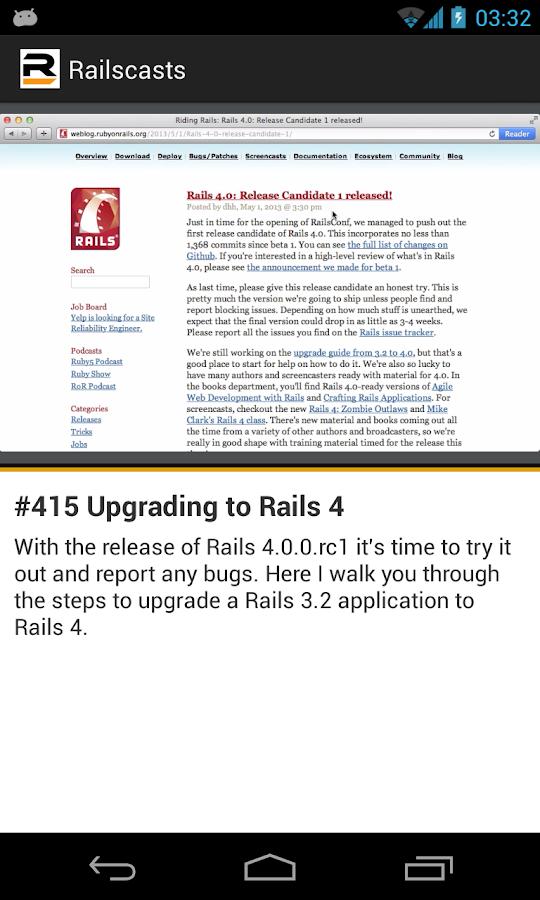 Railscasts - screenshot