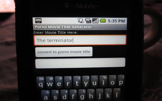 Porno Movie Title Generator