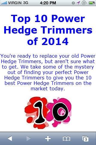 Power Hedge Trimmer Reviews