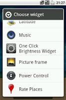 Screenshot of One Click Brightness Widget
