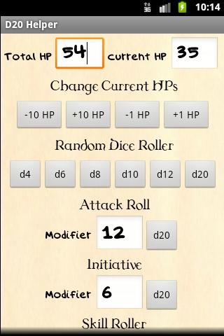 D20 Helper - screenshot