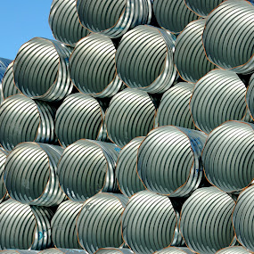 Pipes by Tony Moore - Abstract Patterns ( circles, nc, drains, pipes, landscape, tubes,  )