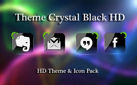 Theme Crystal Black Flat HD v4.9