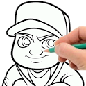 How to Draw Subway Surfers icon