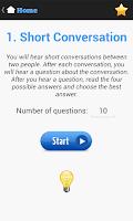 Screenshot of English Listening Test