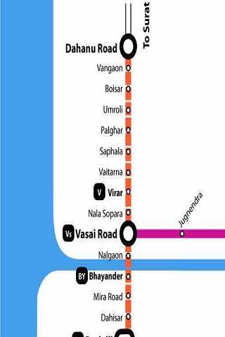 Mumbai Local train map - screenshot
