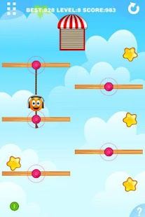 Gravity Orange 2 -Cut rope help orange pass window - náhled