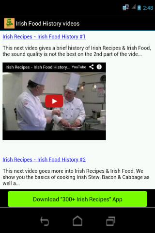 Irish Food History