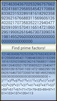 Screenshot of Prime Factor Finder
