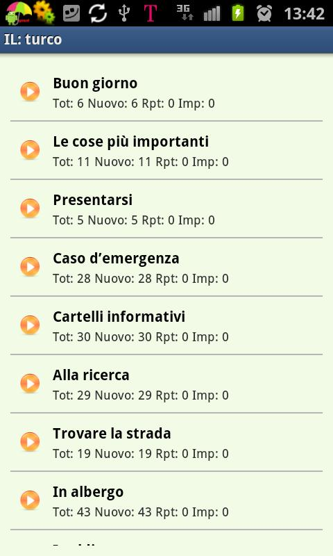 Imparare il turco- screenshot