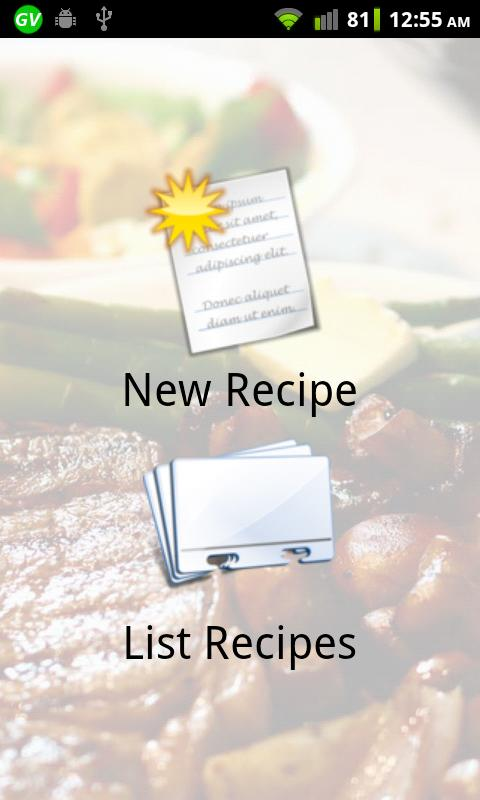 Cookbook - screenshot