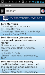 Connecticut College Libraries- screenshot thumbnail