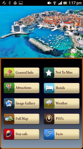 Dubrovnik Offline Map Guide