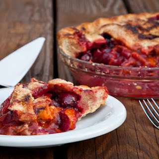 Apricot, Sweet Cherry and Plum Vanilla Spiced Pie.