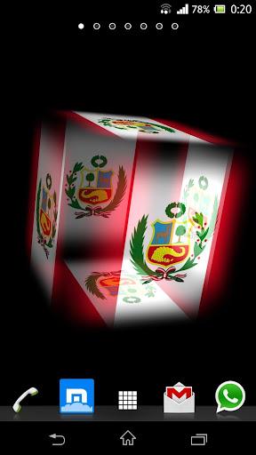 3D Peru Cube Flag LWP