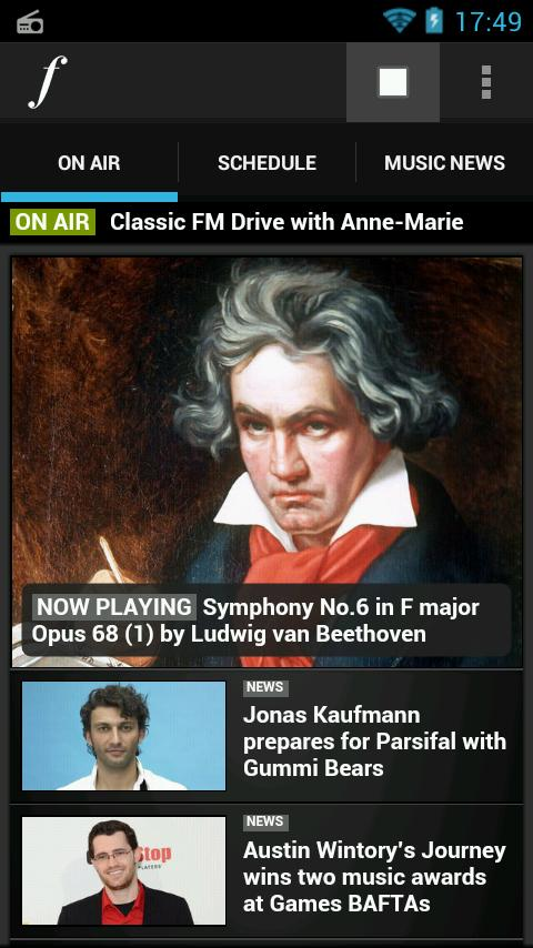 Classic FM Radio App - screenshot