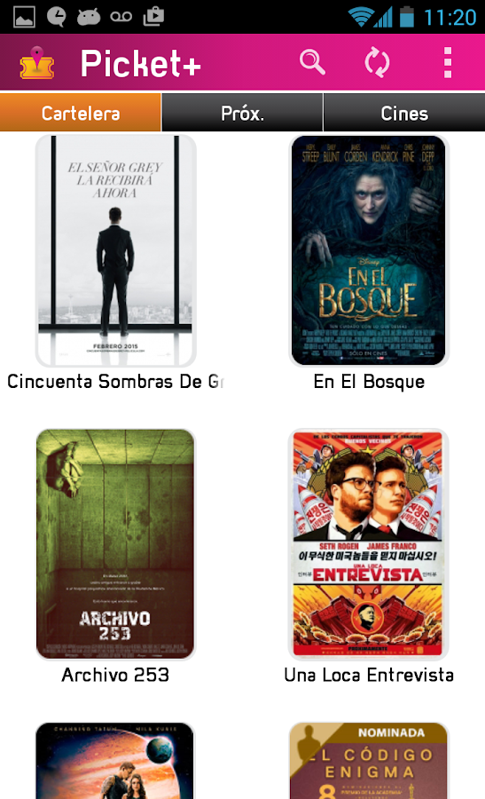 Picket+ Cartelera de Cines- screenshot