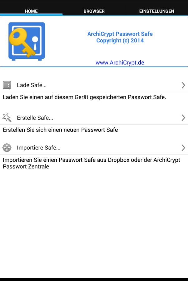 Passwort Safe- screenshot