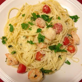 Shrimp Scampi with Linguini
