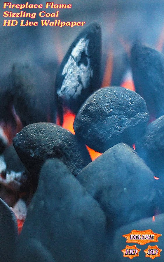 Fireplace Flame Sizzling Coal- screenshot