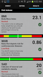 Health and Fit Calculator screenshot