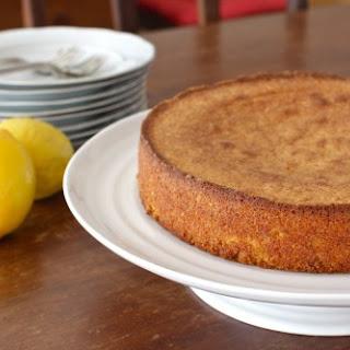 Gluten-Free Meyer Lemon, Cornmeal & Almond Cake.