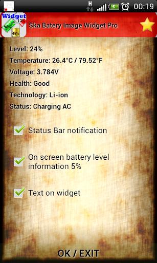 Ska Batery Image Widget Pro