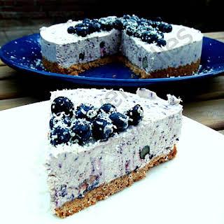 Blueberry & White Chocolate Cheesecake.