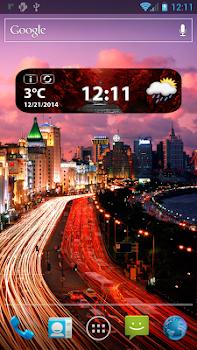 HD Weather and Clock Widget