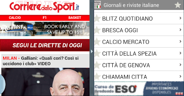 Italia newspapers - screenshot thumbnail