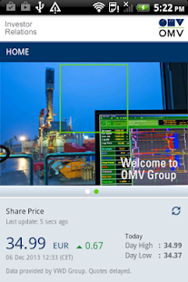 OMV Investor Relations- screenshot thumbnail