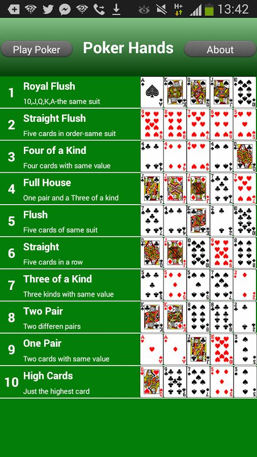 poker hands app