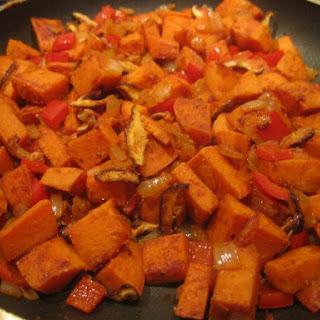 Sweet Potato Hash Over Easy.