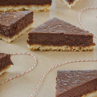 Chocolate Truffle Shortbread Bars.