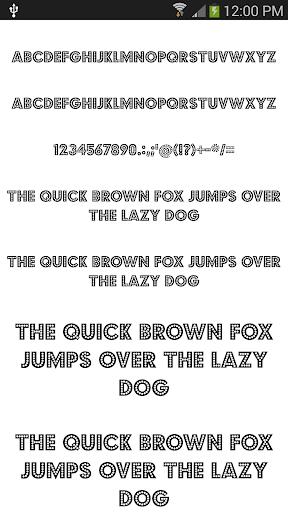 Fonts Cool for FlipFont® free