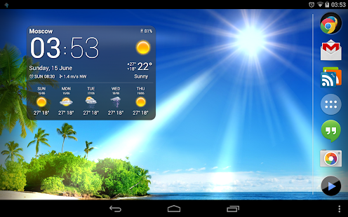Weather Now widgets live wp